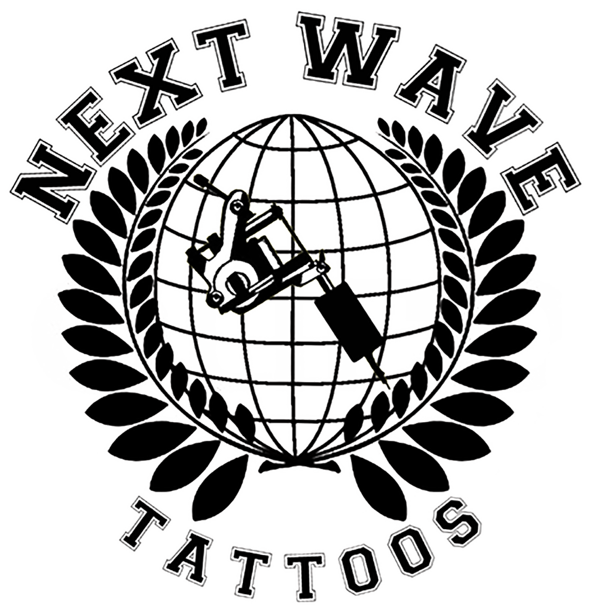 Next wave tattoo logo all black big